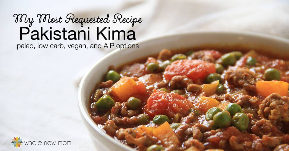 This is my most requested recipe ever! This Pakistani Kima (ground beef curry) is gluten-free, dairy-free, and kid-friendly with low carb, paleo, AIP, and vegan options - plus it's full of nourishing real food ingredients.