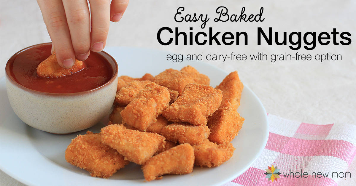 Baked gluten free chicken nuggets egg dairy free with gf option easy baked homemade chicken nuggets recipe gluten free egg free dairy forumfinder Images