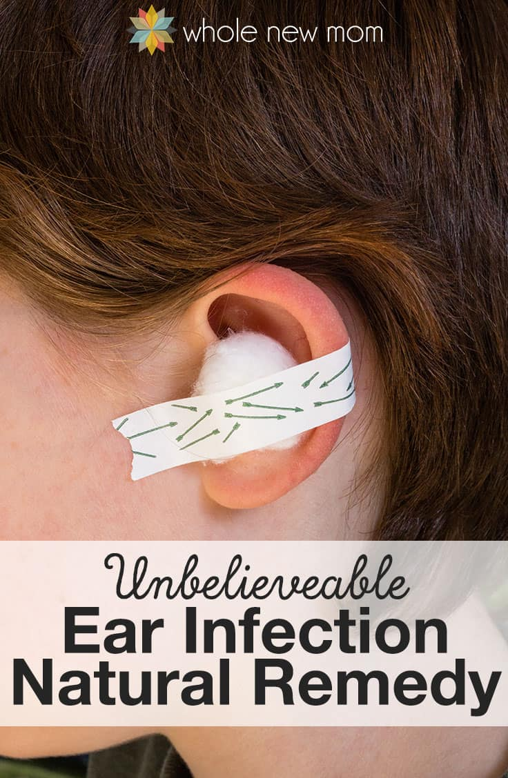 pinterest image for ear infection natural remedy
