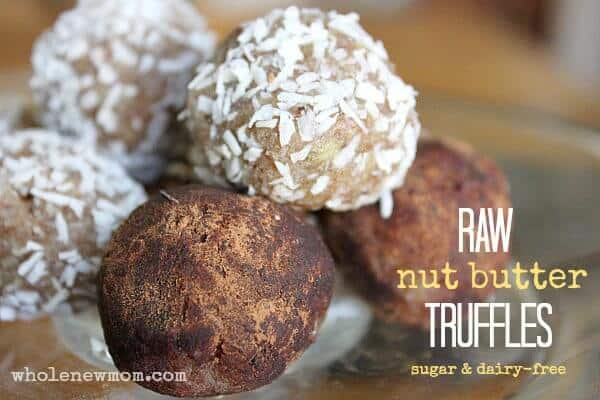 Easy Truffle Recipe - Sugar and Dairy-free. These come together in a flash and are a yummy treat your kids will love. Low carb & Paleo too!