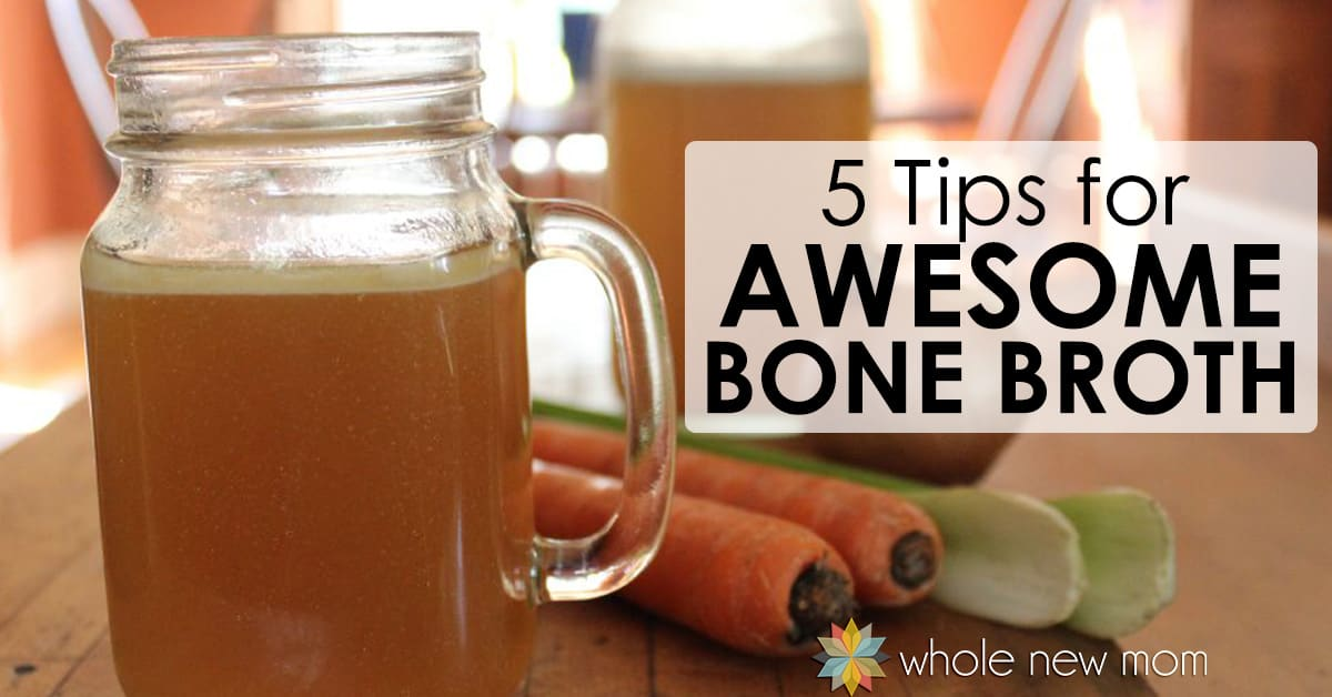 Wondering about how to make bone broth? Here are 5 Tips for making amazing Homemade Bone Broth, including an Easy Chicken Broth Recipe.