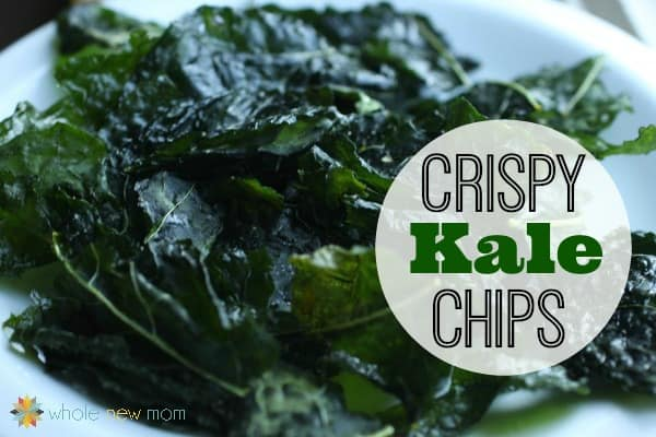 Kale Chips Recipe - They're super easy to make and super nutritious! My kids LOVE them--it's one chip you can feel good about them eating, and they're a fortune in the health food store. So make 'em yourself and SAVE!