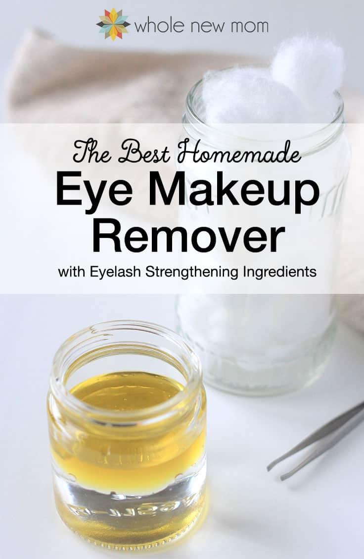 pinterest image for homemade eye makeup remover