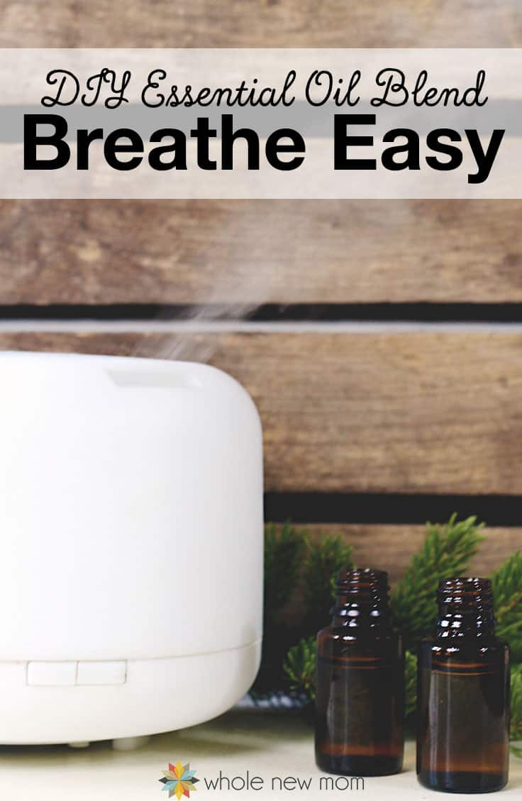"""Essential Oils for Cough - This DIY Essential Oils Blend really works to relieve congestion and coughing. Try this """"Breathe Easy"""" blend the next time you or one of your kids are sick!"""