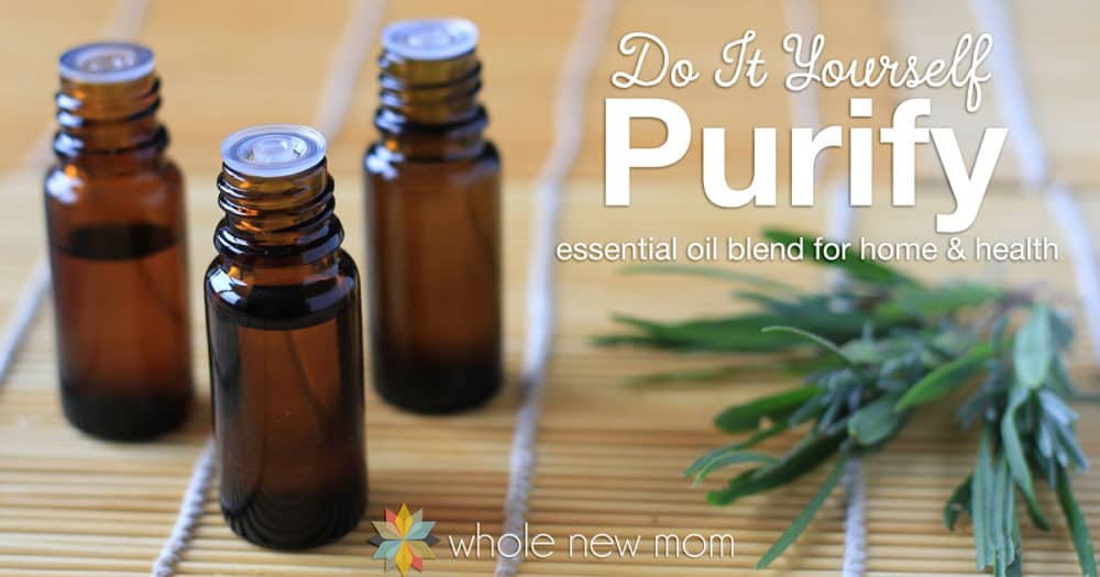 This DIY Purification Blend is great for cleaning the air from toxins, odors, and more, plus it's great for treating wounds too! It really worked on off-gassing issues we had at our home -- no more stink!