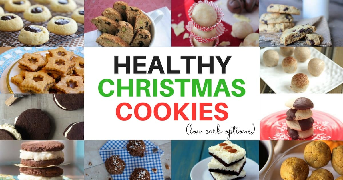 A huge list of Healthy Christmas Cookies to so you can enjoy the Holidays without guilt! All of these are gluten-free cookies with low carb and vegan options.
