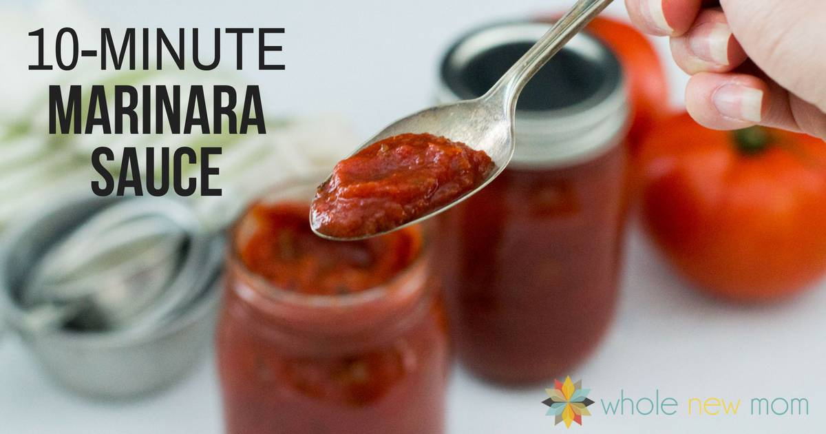 Skip the store-bought jarred pasta sauce and make this Quick and Easy Marinara Sauce instead -- it's just perfect for pasta, zoodles, pizza, veggies and more!