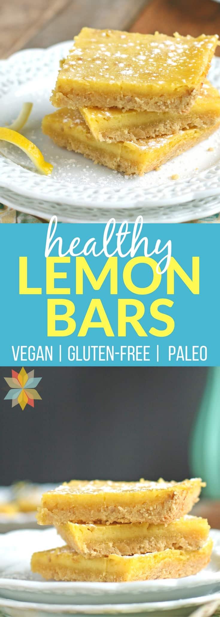 Healthy Paleo Lemon Bars - Gluten-free Lemon Bars