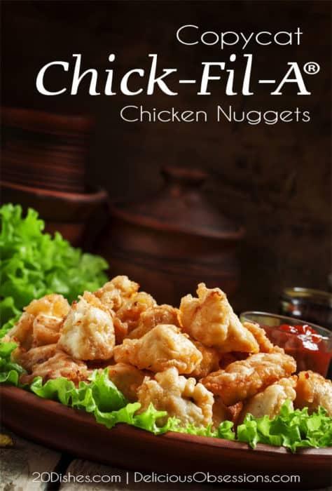 Healthy Chick-Fil-A Copycat Chicken Nuggets